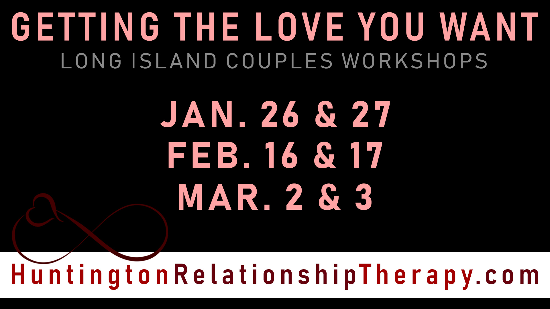Getting The Love You Want Couples Workshops - JAN FEB MAR 2019
