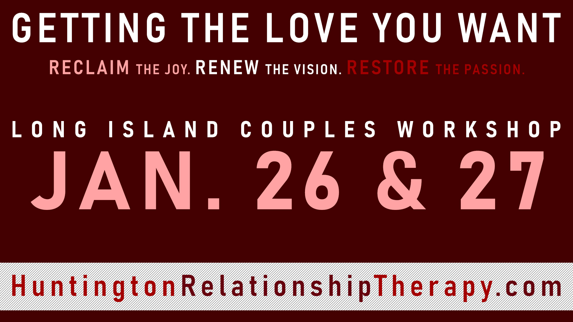 couples workshop JAN 26 & 27, 2019