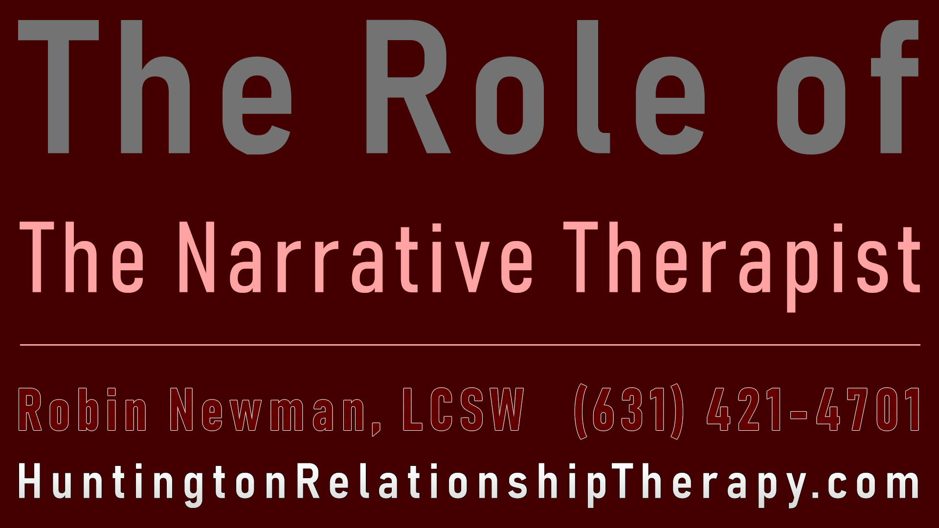Narrative Therapist Huntington Long Island