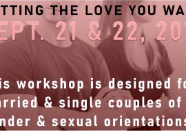 GETTING THE LOVE YOU WANT workshops are for all sexual orientations