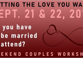 do you have to be married to take GETTING THE LOVE YOU WANT workshops